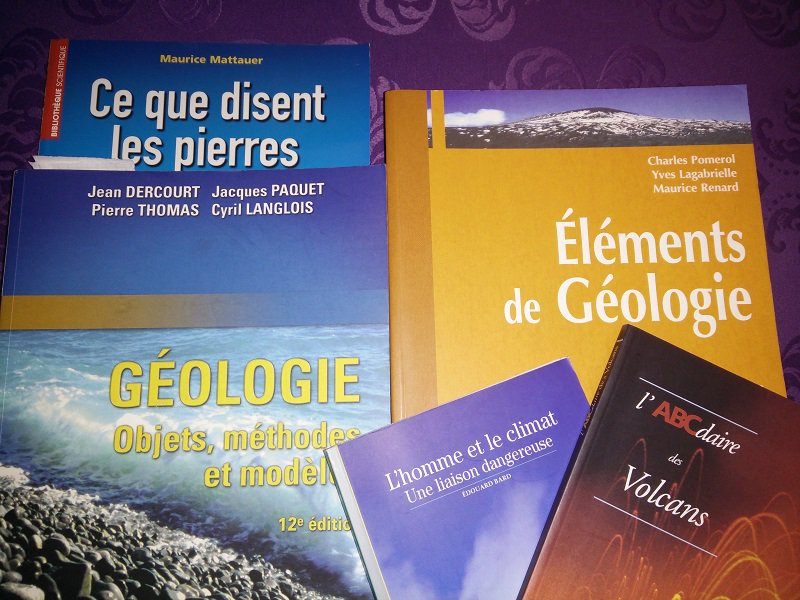 photo livres géol