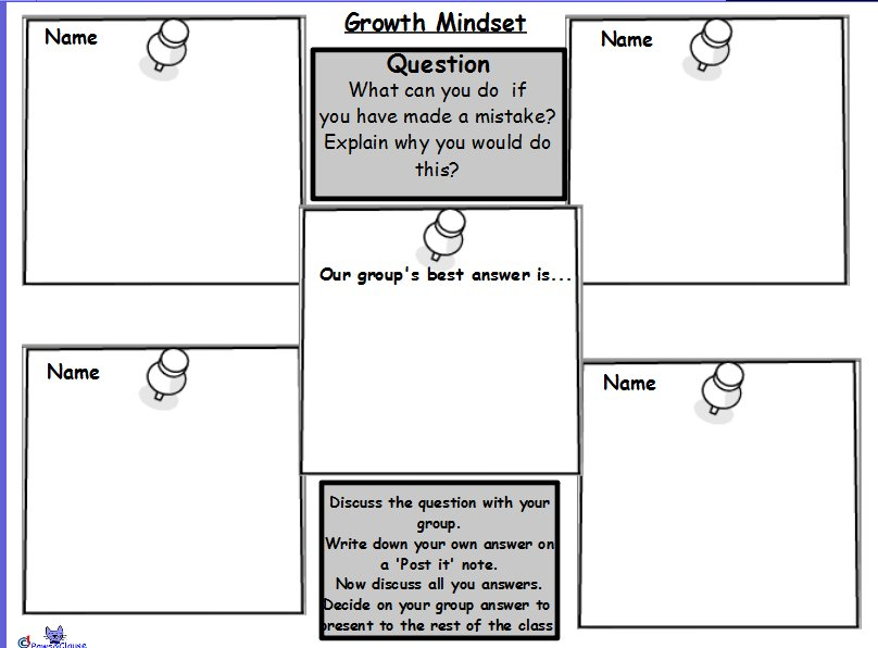 Free Growth Mindset Worksheets A K B Info