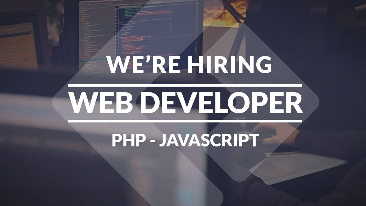 We're hiring! https://t.co/69DL384duq #jobs #webdeveloper #php #javascript https://t.co/kiqAFc5Naz