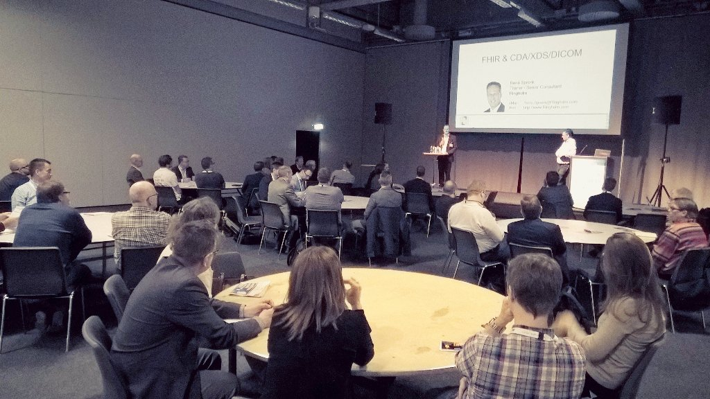 Huge interest for #FHIR in the Swedish infrastructure workshop organized by #HL7 Sweden. 20 expected, 50 showing up. https://t.co/FJ7DVxhdF4