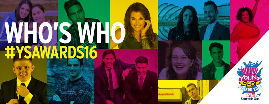 RT @MediaScotEvents: Check out some of the VIPs set to attend the @YoungScot #YSAwards16! Get your tickets here https://t.co/NGprbAIiPZ htt…
