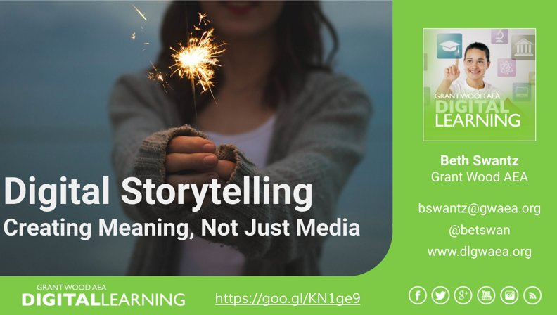 See the resources from @betswan and her digital storytelling session at #i11i right here => https://t.co/ixctotxyFv https://t.co/GoKYkmQIK6