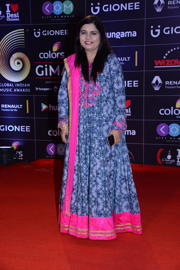 Sadhana Sargam at GiMA Awards 2016