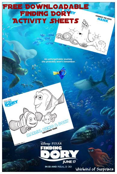 Finding Dory Coloring Sheets and Activities
