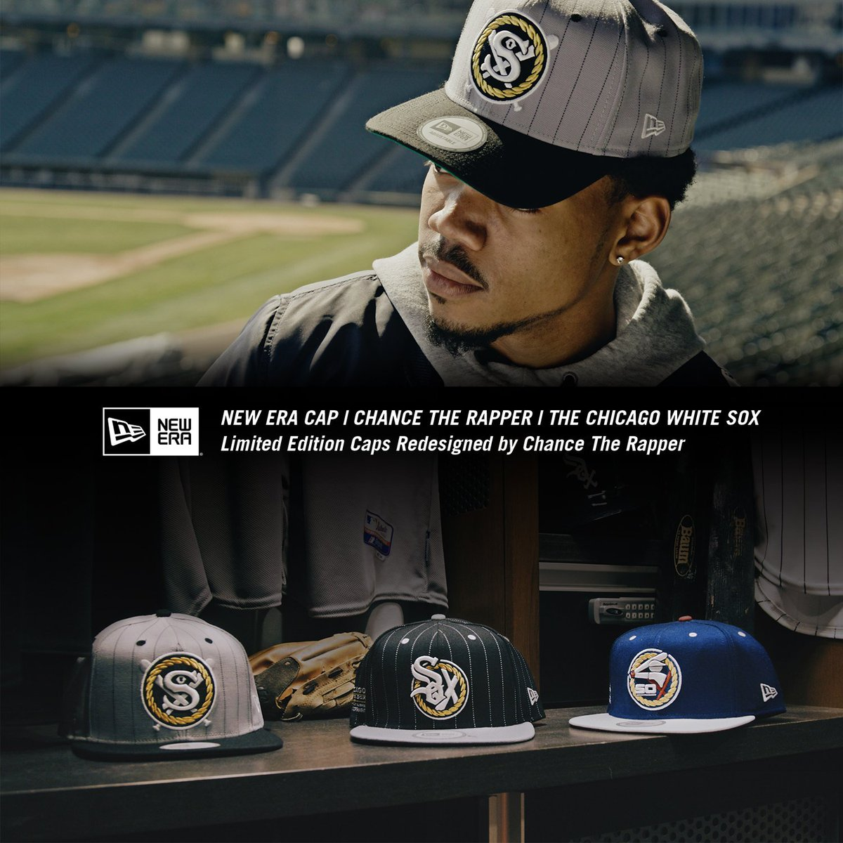 Chance the Rapper designed a trio of really awesome White Sox hats