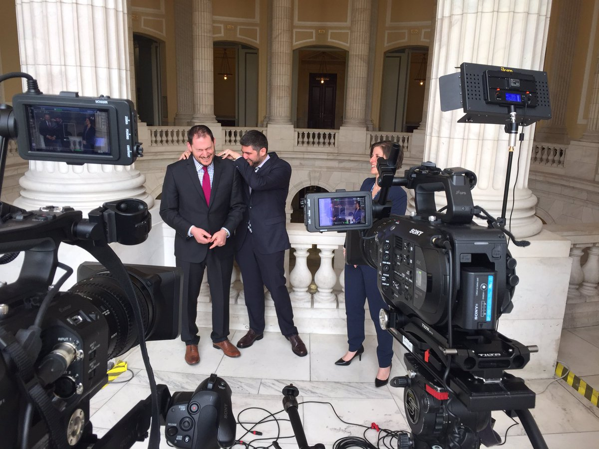 Fun times shooting with @AaronMehta @FedEdJill @reporterjoe for @defense_news tv