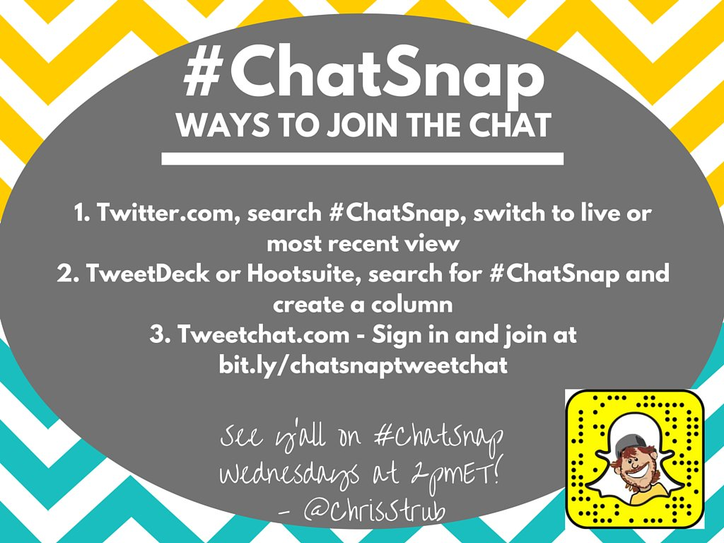 Here's how you can join #ChatSnap. (Personally, I prefer @TweetDeck!) Make sure you use the hashtag in your answers! https://t.co/Np0G5gN6yR