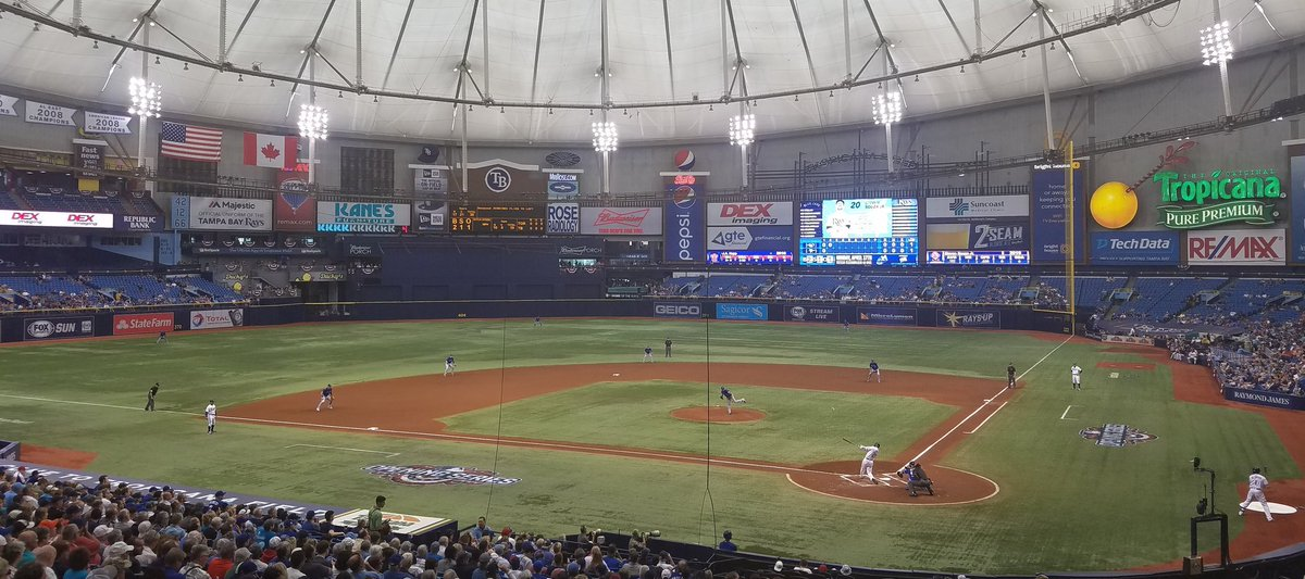 30 of 30 for me. Officially seen every active @mlb stadium. Life dream complete. – at Tropicana Field