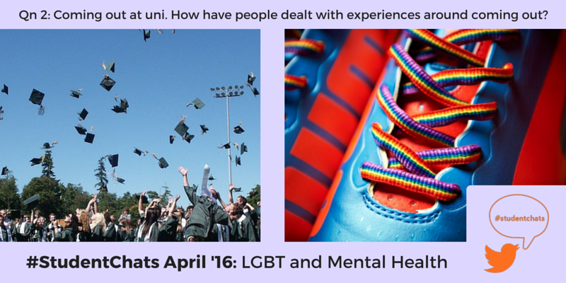 Qn 2: How have people dealt with experiences around coming out? #StudentChats https://t.co/AkzasBjdZX