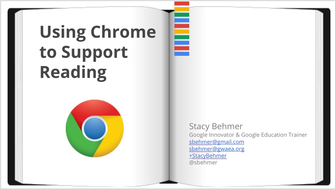 Session slides from @sbehmer on how to use Chrome to support reading in 1:1 classrooms https://t.co/Enucq5fiGr #i11i https://t.co/MfFqSh3cTy
