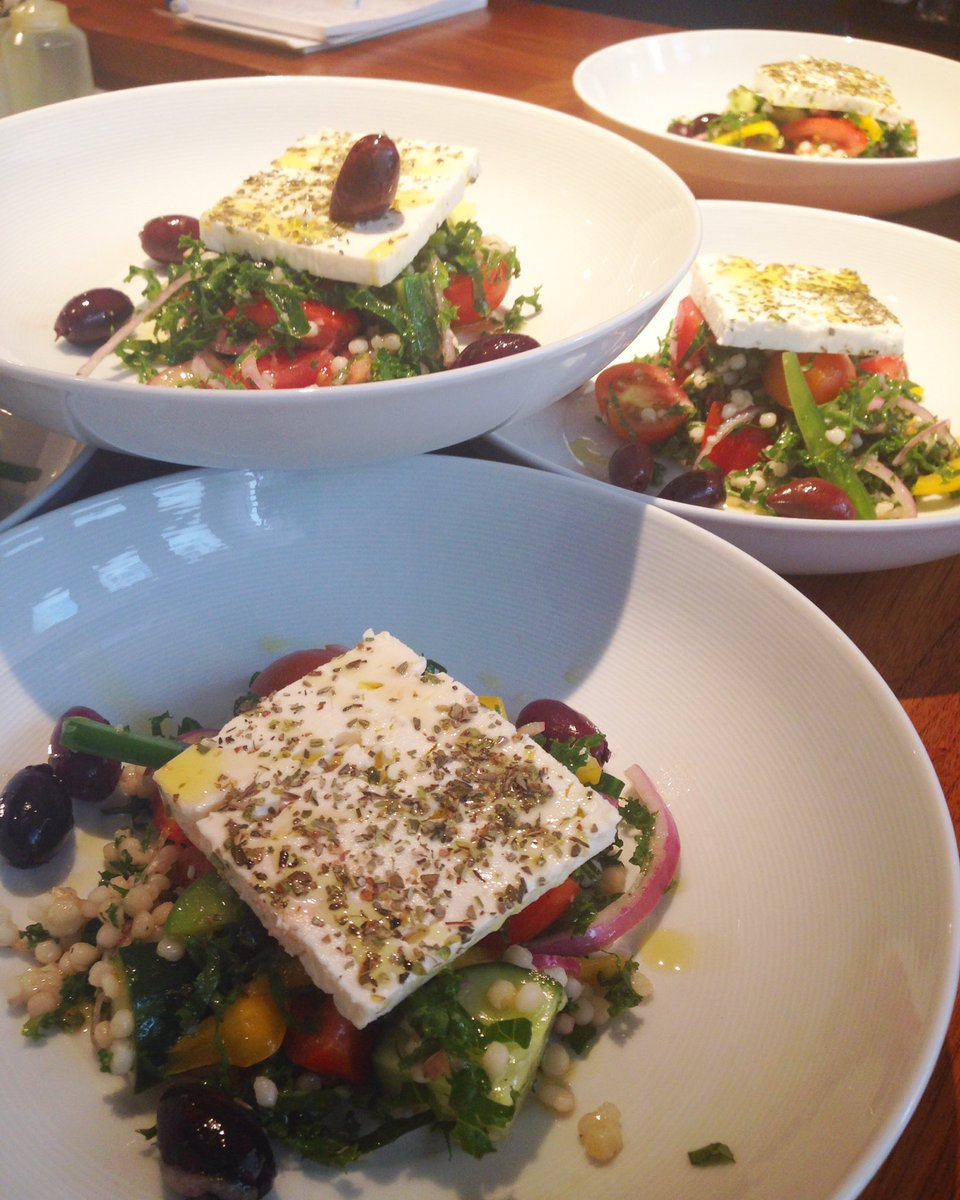 Greek salads all around #healthy #healthydinner #eatingathome