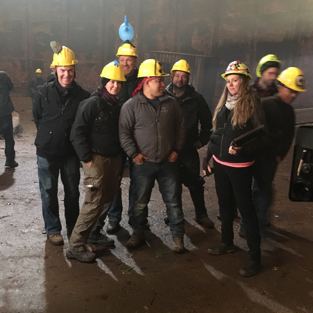 """Emily Swallow On Twitter: """"Our Crew Had To Wear Hard Hats"""