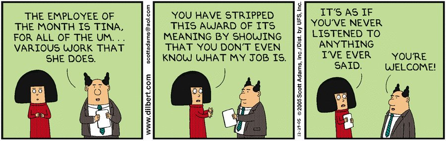 Rewards and recognition employee comic strip