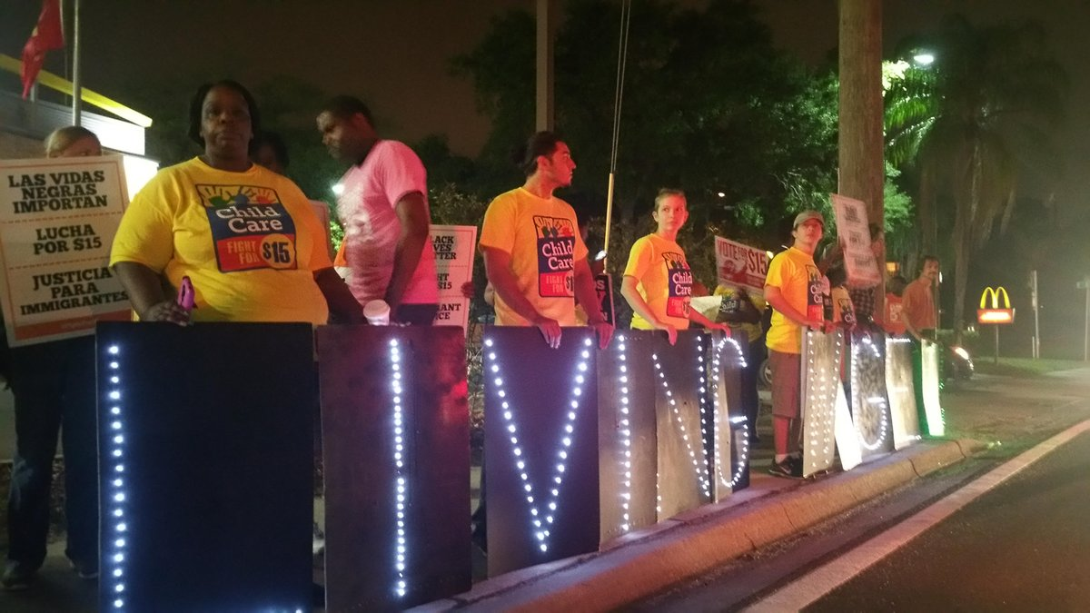 Tampa is on STRIKE. We #FightFor15 & demand #ChildCareForAll. https://t.co/jUb09dMlbh
