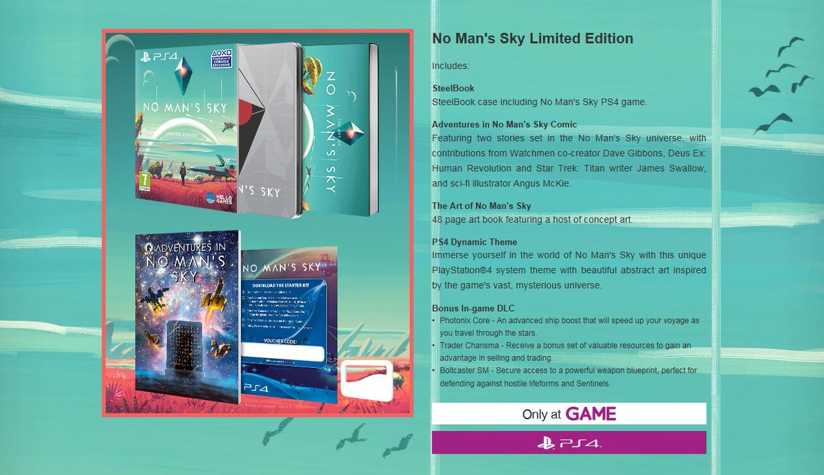 Game perry barr on twitter preorder nomanssky limited edition 201 am 7 apr 2016 malvernweather Images