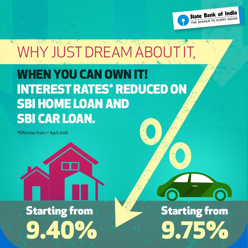 State Bank Of India On Twitter Interest Rates Reduced For Sbi Home