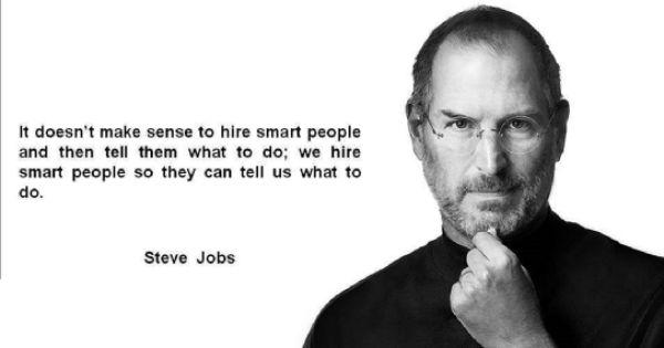 It does not make sense to hire smart people and tell them what to do... #learning2 #ASParisL2 https://t.co/Lch8ed1hWR