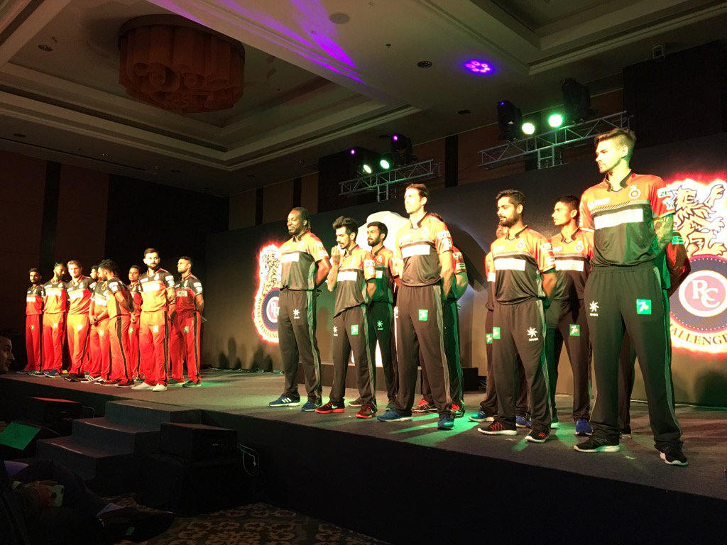 Royal Challengers Bangalore launches their new IPL jersey 3