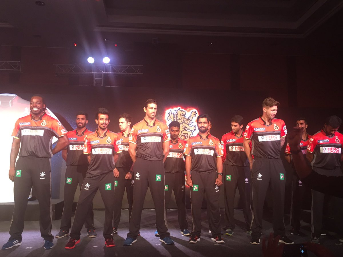 Royal Challengers Bangalore launches their new IPL jersey 4