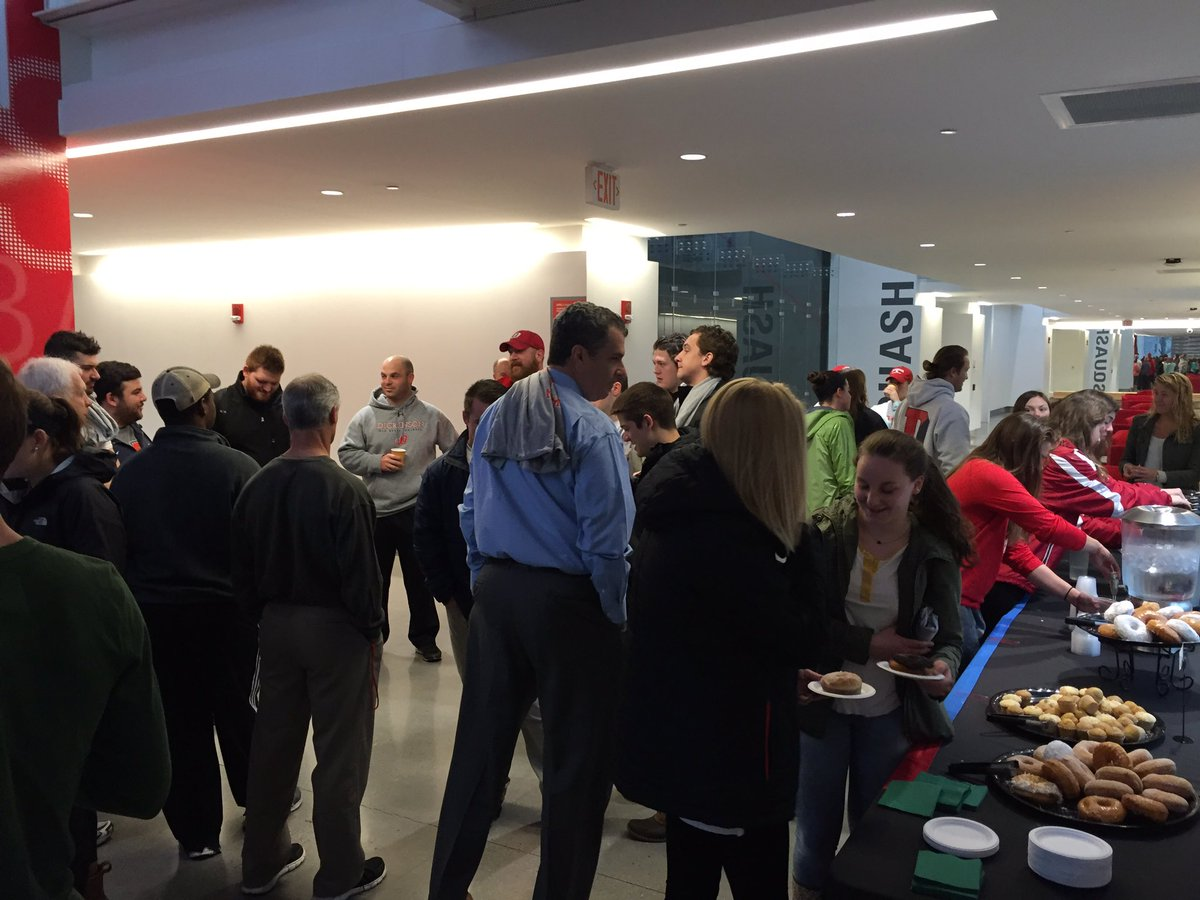 Great attendance for Coffee With Coaches this morning in the Kline to celebrate #D3Week https://t.co/tiyrWvtq6Q