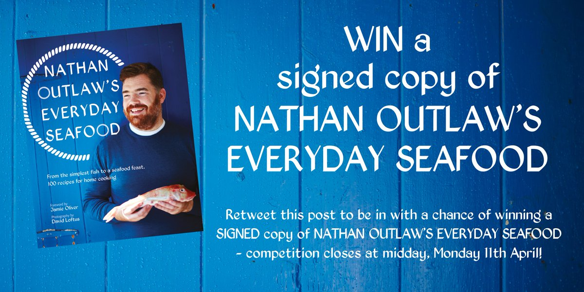 To celebrate the publication of @Nathanoutlaw's Everyday Seafood we're giving away a SIGNED copy! #competition #win https://t.co/MjrQ3mFlA1