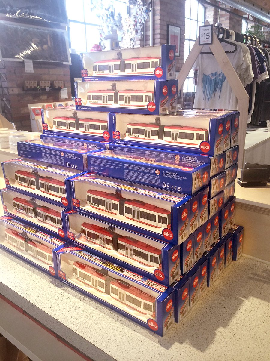 The @SpacingStore is doing better than the #TTC — over 60 new Bombardier streetcars just arrived. https://t.co/oAiMN9tFcv