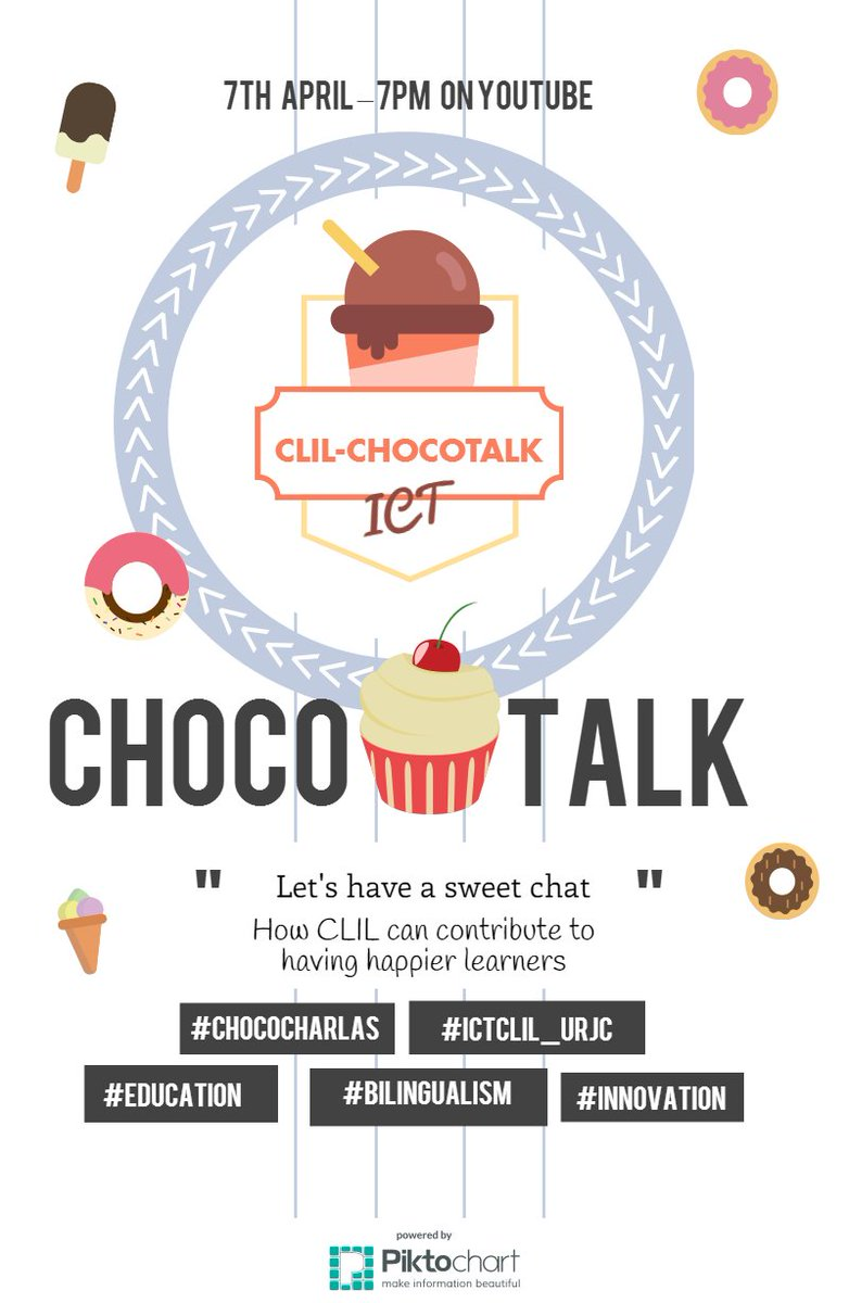 Sweets ready? We can't wait no more!Having happier learners has never been so much easy #ictclil_urjc #chococharlas https://t.co/DXUWv2BZeB