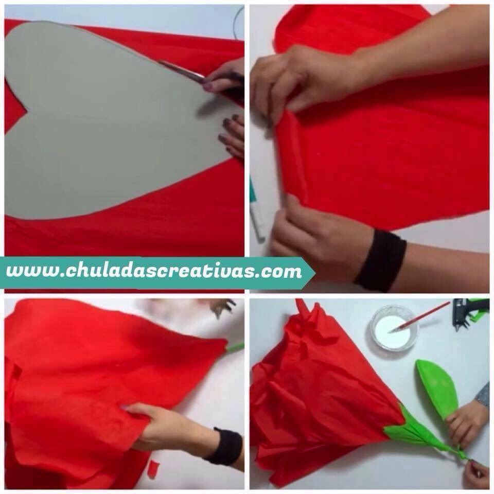 Como Hacer Rosas De Papel Crepe Paso A Paso Great Good Perfect
