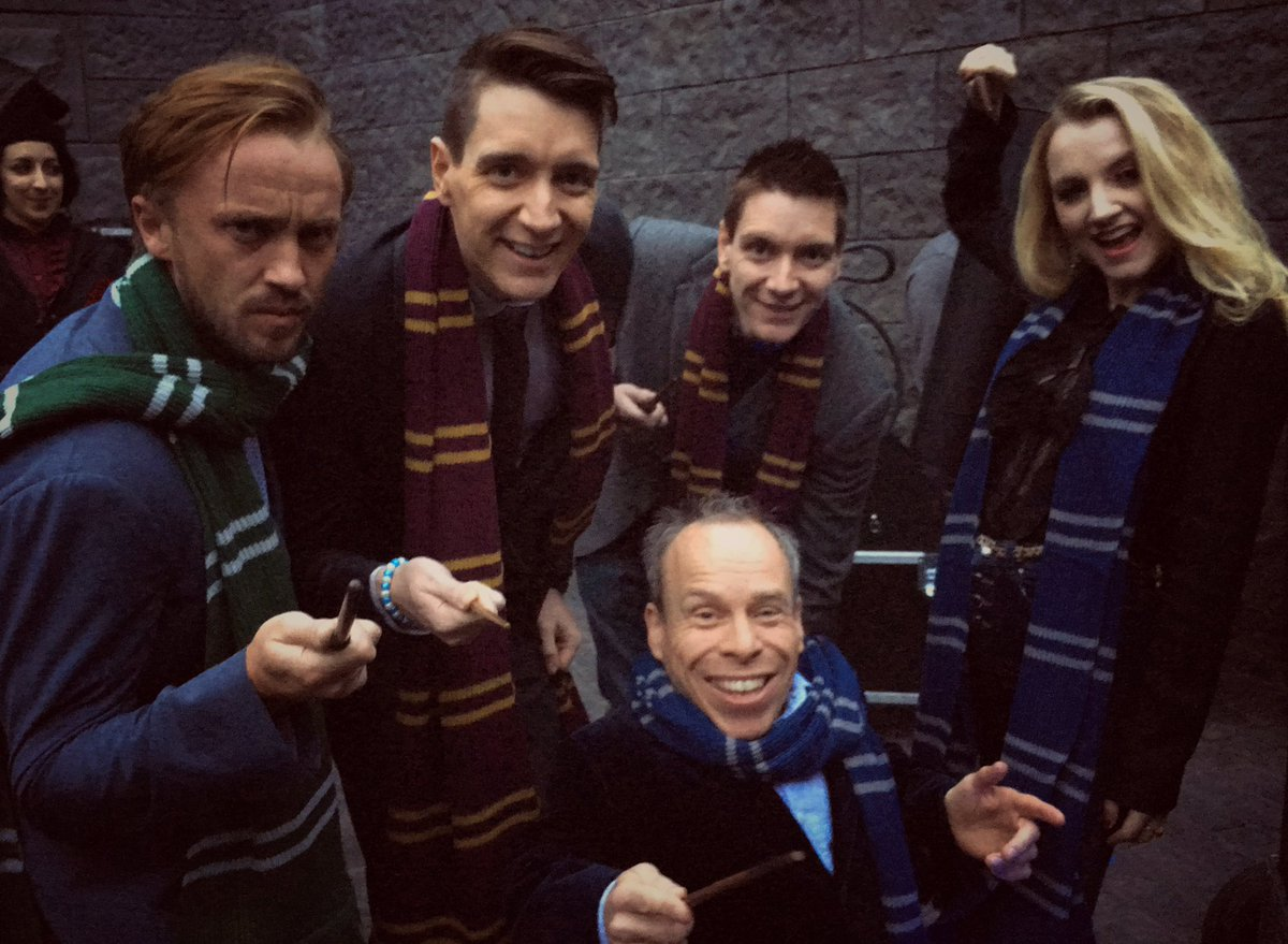 Me & my 'students' backstage at the grand opening of @WizardingWorldUniversal @UniStudios. #SchoolReunion https://t.co/AM360XI604