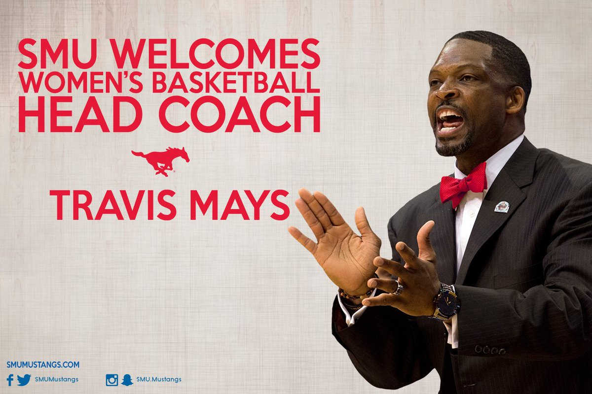 SMU is proud to welcome new @SMUBasketballW Head Coach Travis Mays! #PonyUp https://t.co/dlFR1m6A6x