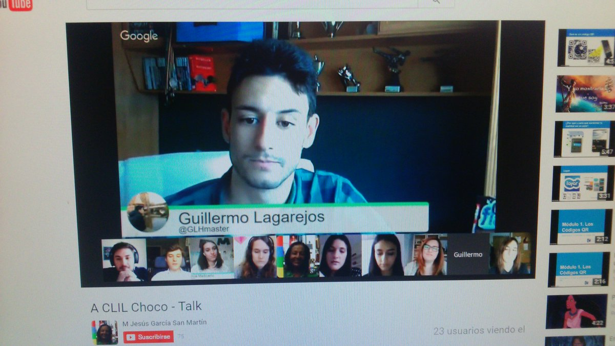 @GLHmaster is doing a very great job in our chocotalk! Ask them any question! https://t.co/MMR0SjmhSu #ictclil_urjc https://t.co/mt7WDAuy2y