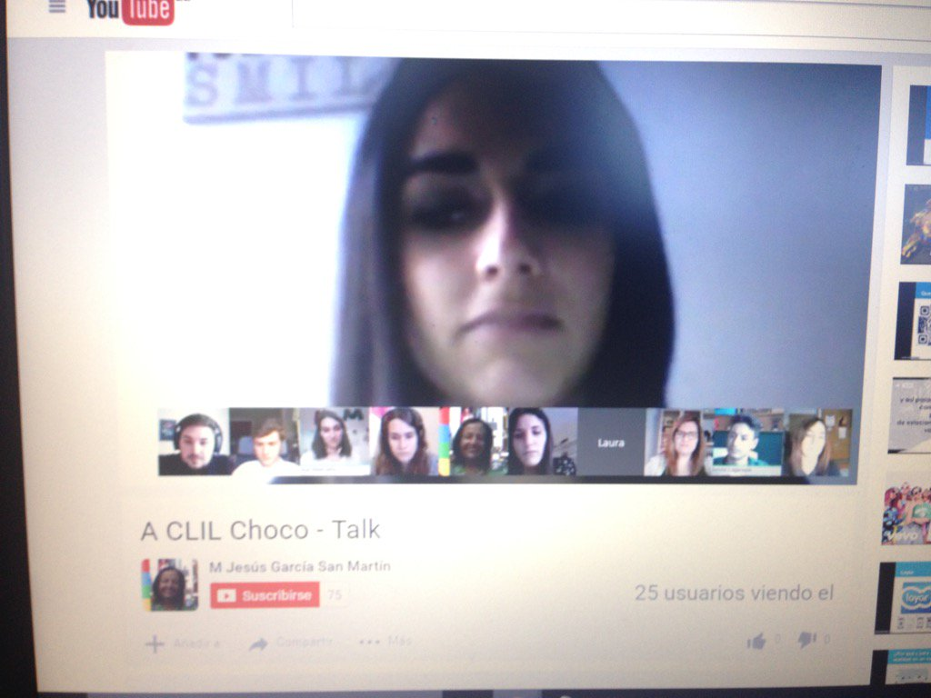 We have already started our choco - talk. Join us, what are you waiting for? #chococharlas #ictclil_urjc https://t.co/6F0RC8oTsv