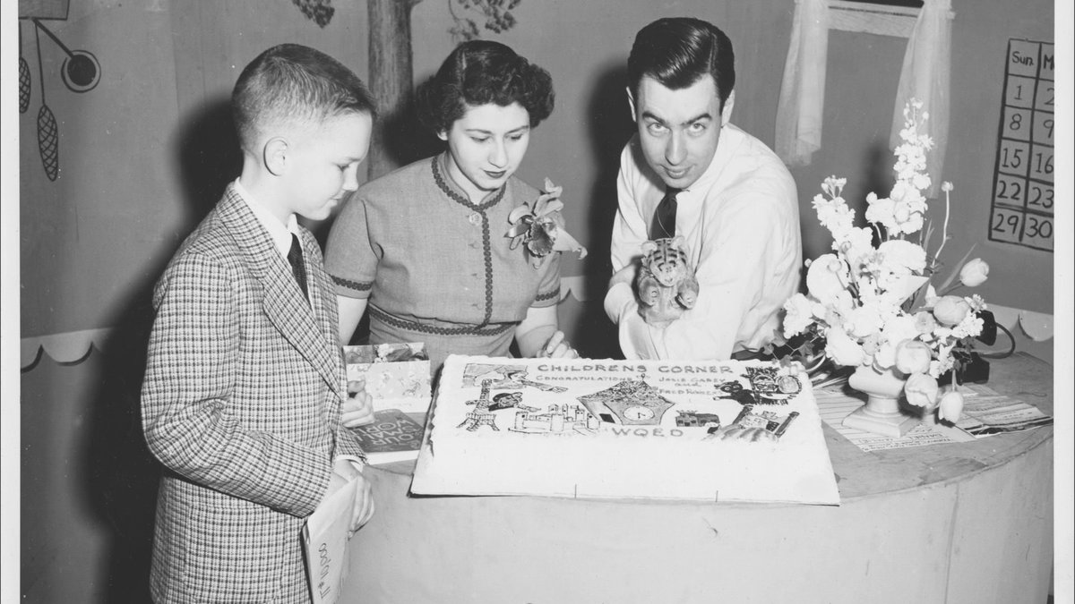 Wqed Pittsburgh On Twitter This Week S Tbt Takes Us Back To Children S Corner With Josie Carey Fred Rogers And Yes There S Cake Https T Co 8l4furjyha