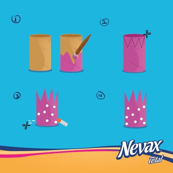 ¡Reutilizá el cilindro y hacé hermosas coronas mágicas! #ManualidadNevax https://t.co/8H7rl43TxR