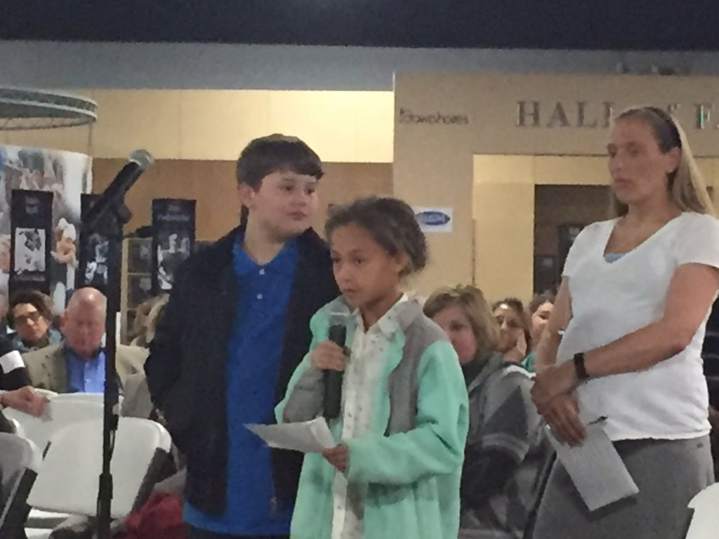 "Students @ Town Hall ask @DrSPruitt if he values student voice. ""It is the most important,"" he said. #KyEdListens https://t.co/V4rHiDfC58"