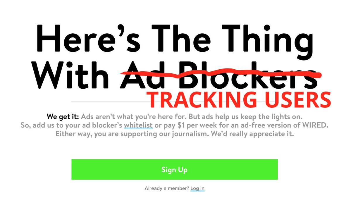No @WIRED, I don't use an ad blocker. I've disabled tracking. I'd be happy to see your ads but you've locked me out. https://t.co/ilMMgVDvKn