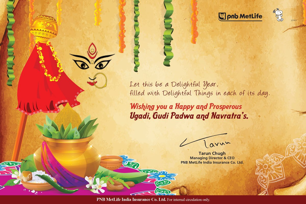 Tarun Chugh On Twitter Best Wishes For Ugadi Gudi Padwa And