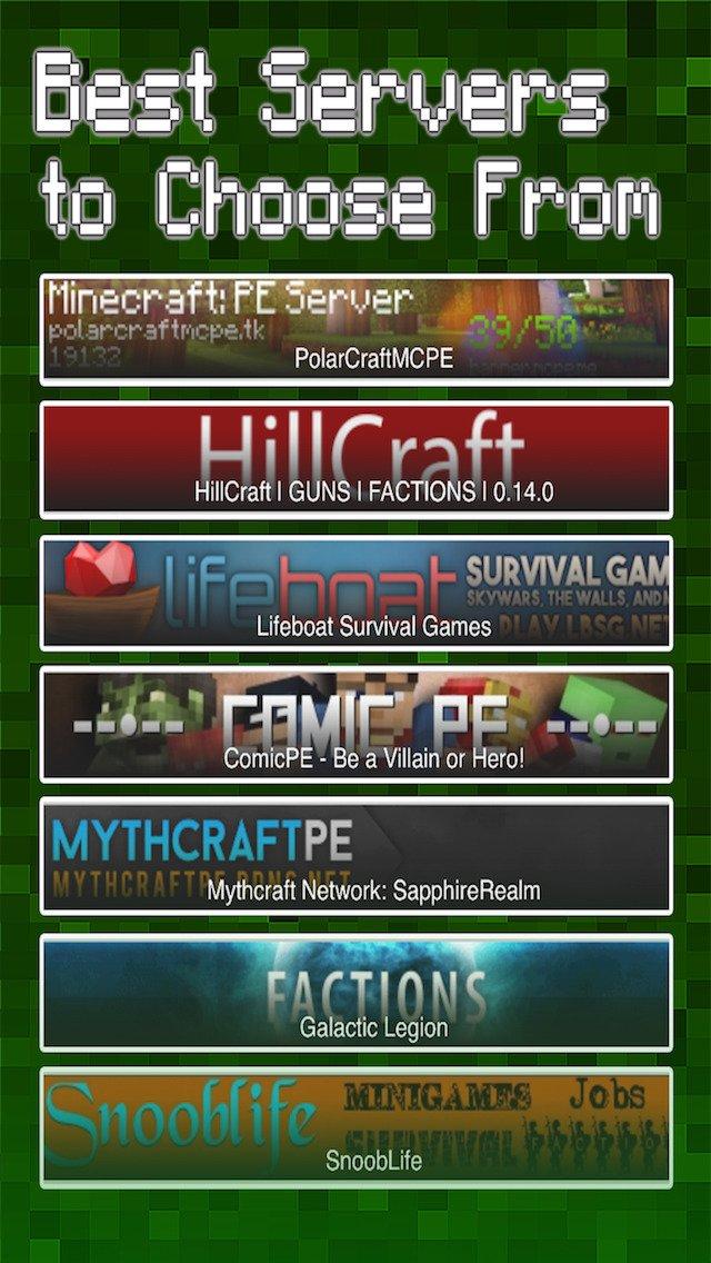 minecraft server pe free
