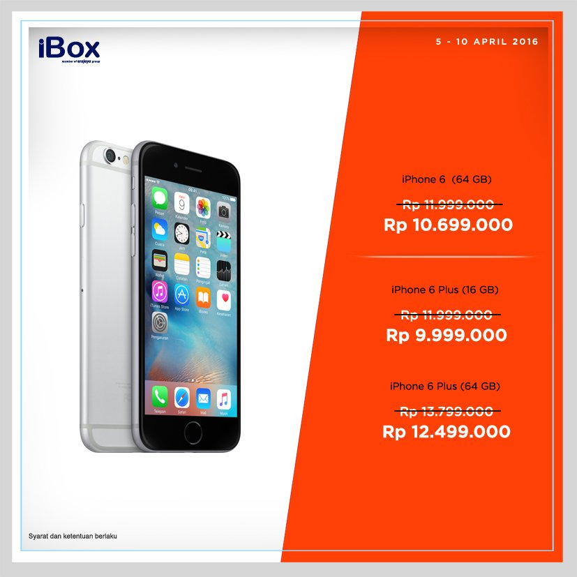 Ibox On Twitter Promo Iphone 6 Dan 6 Plus Langsung Ke Ibox