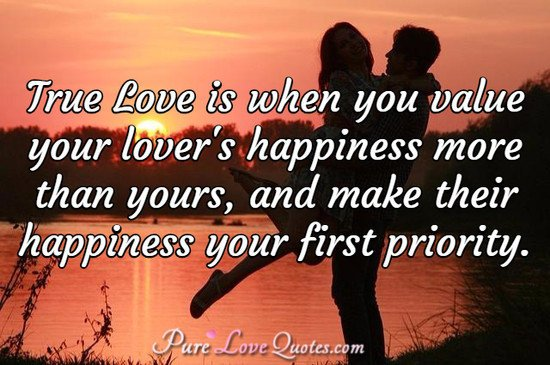 Pure Love Quotes On Twitter True Love Is When You Value Your