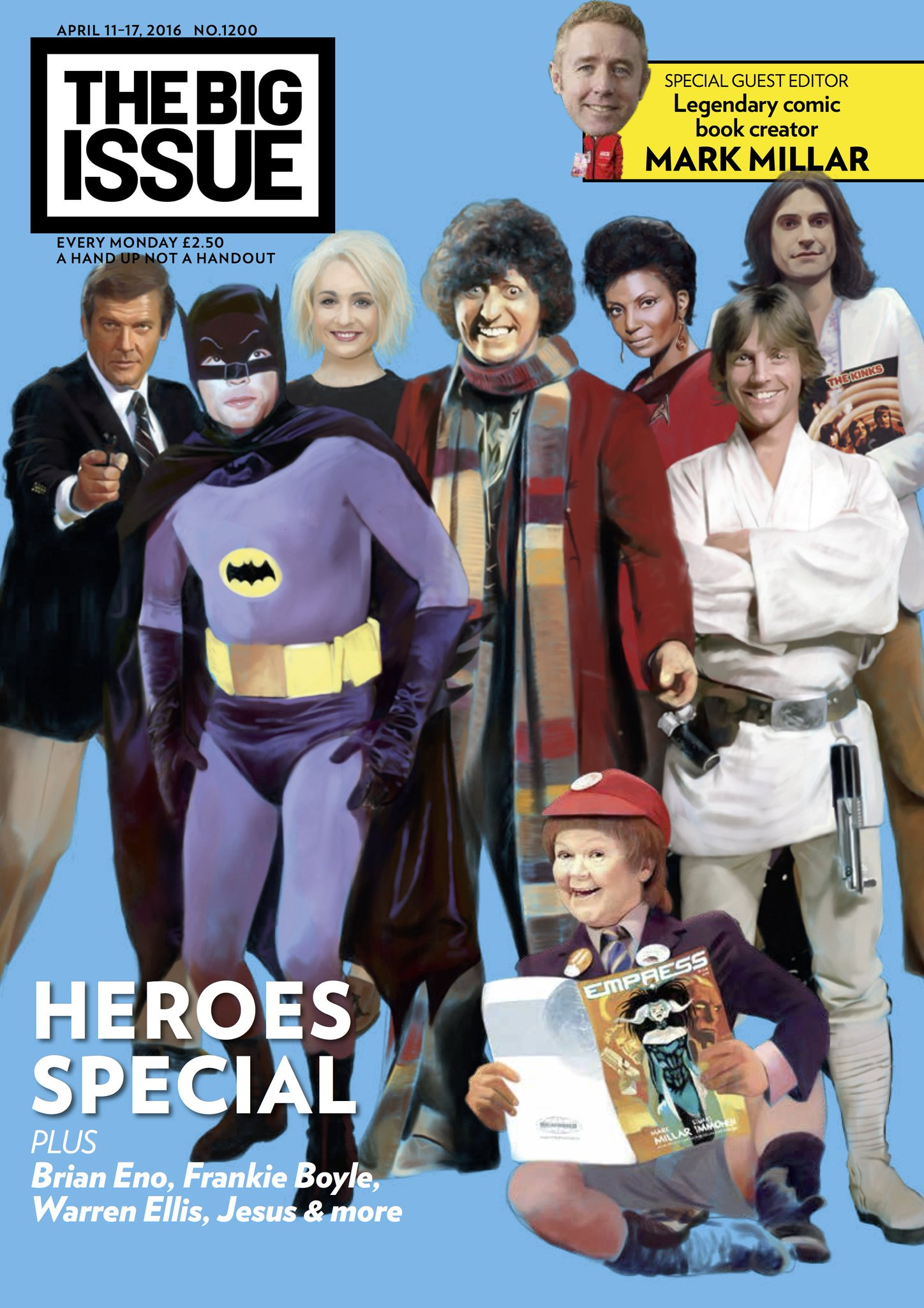 RT @BigIssue: Revealed: A HEROIC Big Issue – guest edited by @mrmarkmillar. Out across the UK from Monday. https://t.co/VAHmttqR6r https://…