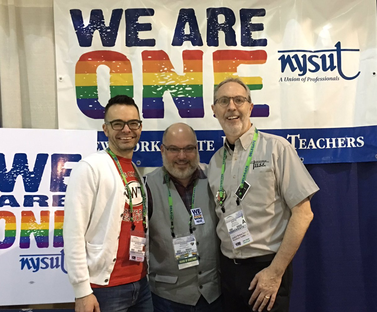 Seeing friends at the @LGBTQNYSUT table at the #nysutra https://t.co/J3MJAoPYw5