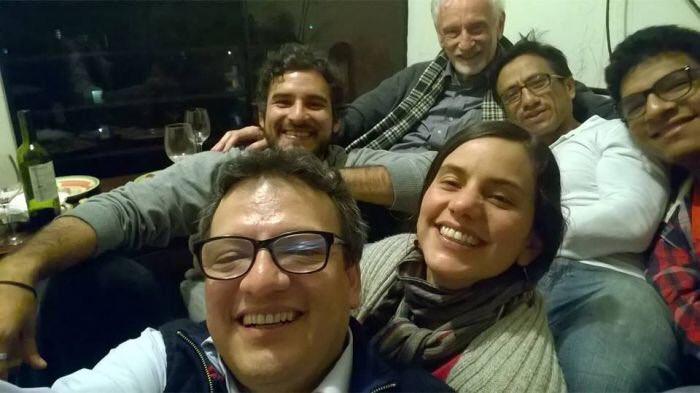 Foto de 'terrorista' Guillermo #Bermejo junto a Jorge #Millones y @Vero_Mendoza_F ¿seguirán negando su amistad?