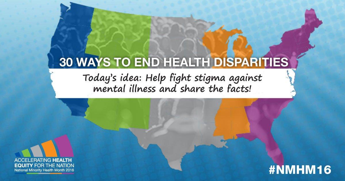 Fighting Mental Illness Stigma To Help End Health Disparities