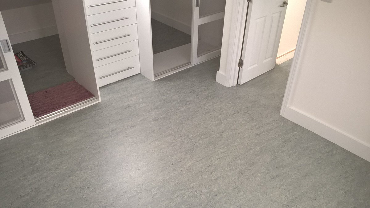 Style Flooring On Twitter Marmoleum Marbled Sheet Linoleum Colour 2621 Dove Grey To A Loft Storage Area And Landing