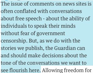 "The Guardian's ""Web We Want"" series will analyze abuse on the paper's own site"
