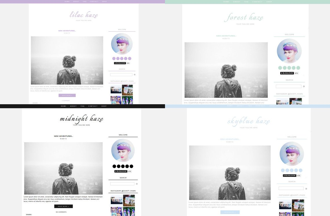 Blogger Templates Mintyfoxdesigns Twitter