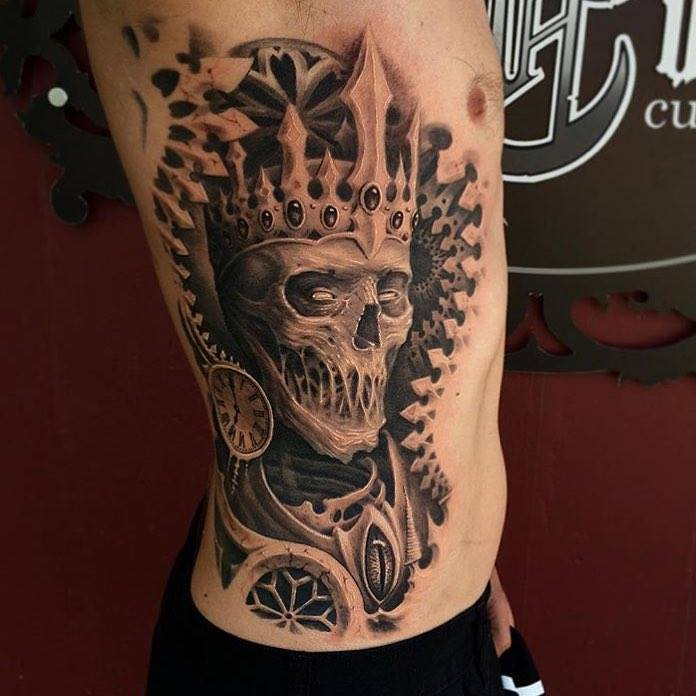 """Witch King Tattoo On Guy S Chest: TattoosWin On Twitter: """"Cool And Awesome Skeleton King"""