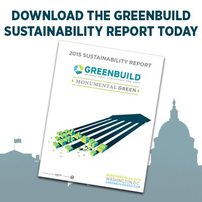 Want to know how #sustainable #Greenbuild is? Check out the 2015 Sustainability Report https://t.co/Y1XAmwxROi https://t.co/TxGsfsxtE0