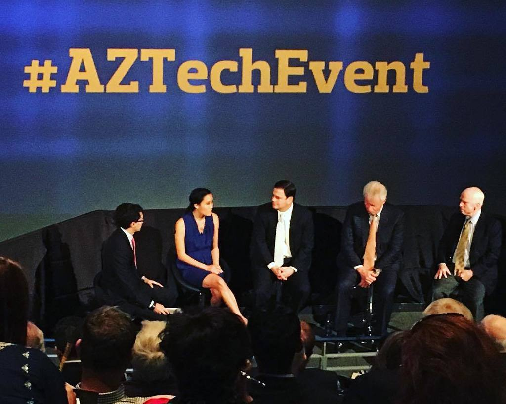 Our amazing founder Jenny @poondingo controlling the stage at the #aztechevent panel alongside US @senjohnmccain, #… https://t.co/NGUD3weTuZ